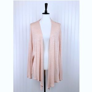 Metaphor Blush Pink Flyaway Knit Open Cardigan, L